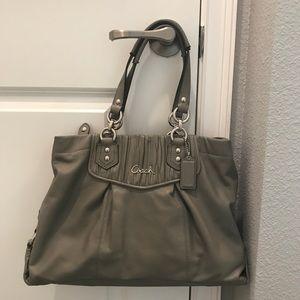 Coach grey satchel purse